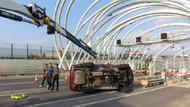 Avrasya Tüneli girişinde kaza: 3 gişe trafiğe kapatıldı