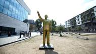 Almanya'da yapılan Erdoğan heykeli ortalığı karıştırdı