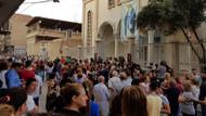 Suriyeli Hristiyanlar PKK'nın ideolojik eğitimini protesto etti