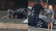Trafikte kavga eden iki kadının görüntüleri interneti salladı