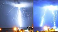 Meteoroloji o yıldırımları böyle görüntüledi