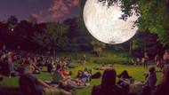 Ay'ı yeryüzüne indirdiler! Görenleri büyüleyen muhteşem manzara