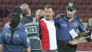 1. Lig'de hakeme saldırı! Karşılaşma tatil edildi