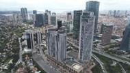 Levent'teki İş Kuleleri'nin havadan fotoğrafları