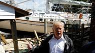 Trump'tan kasırga mağdurlarına: Bu işten güzel bir tekne edinmişsiniz