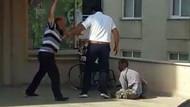 Kan donduran görüntü! Engelli oğlunu acımasızca dövdü