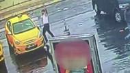 Taksicilerin silahlı çatışması müşteri kamerasında