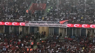 Trabzon'daki milli maçta TFF'yi şoke eden pankart
