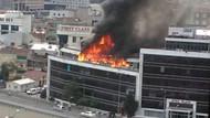 İkitelli'deki iş merkezinde korkutan yangın