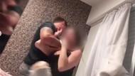 Cani erkek arkadaş kız arkadaşını kamera önünde dövdü