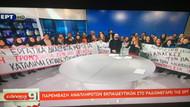 Yunan Devlet televizyonunu protestocular işgal etti