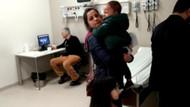 Hasta çocuklar ağladı doktor bilgisayardan oyun oynadı