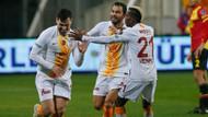 Galatasaray'da İzmir'de Göztepe'yi Gümüş'le geçti