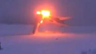 Rus yapımı süpersonik bombardıman uçağı böyle düştü