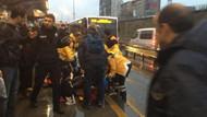 Metrobüs yolcuya çarptı! Seferler aksıyor
