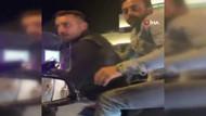 Beşiktaş'ta motosikletli magandalar kadın sürücüyü taciz etti