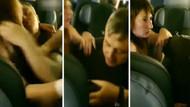 Rusya'da uçaktaki çiftin görüntüleri ülkede infial yarattı: Bir anda öpüşmeye başladılar