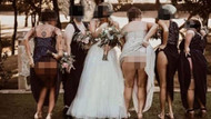 Düğünde gelinin kız arkadaşları bir anda eteklerini sıyırıp..