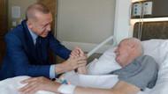Erdoğan hastanedeki eski Adalet Bakanı Kazan'ı ziyaret etti