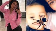 Kylie Jenner da çocuğunun yüzünde örümcek gezdirdi