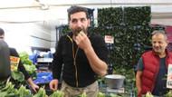 Vatandaşı inandırmak için ıspanakları yedi ama, sadece 1 kilo satabildi