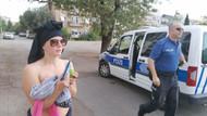 İsveçli özgür kız üzerindeki kıyafetlerini çıkardı Manavgat'ı karıştırdı