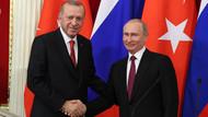 Erdoğan ve Putin üçlü zirve öncesi buluştu
