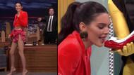 Kendall Jenner'a ayakkabı ve terlik yedirdi!