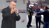 Erdoğan'ın mitinginde ambulans krizi: Trafiği açmayan polise tepki gösterildi