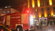 Fatih'te 7 katlı otelde yangın paniği