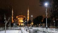İstanbul'da büyüleyici kar manzaraları
