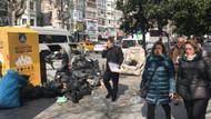 Şişli'de cadde ve sokakları çöple doldu