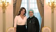 Emine Erdoğan Peristera Baziana'yı ağırladı