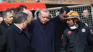 Erdoğan enkaz alanında konuştu: Buradan almamız gereken dersler var