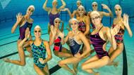 Rusya Senkronize Yüzme Milli Takımı'nın antrenmanından kareler