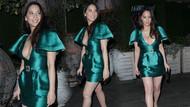 Olivia Munn yeşil elbisesiyle göz kamaştırdı