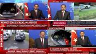 Mehmet Özhaseki konuşurken haber kanallarının hali