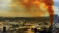 Kuyumcukent'ten yükselen sarı duman sosyal medyada çevre kirliliği tepkisine neden oldu