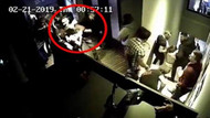 Beşiktaş'taki barda kadın müşteriye dayak kamerada