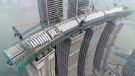 Çin'in yatay gökdeleni yakında tamamlanıyor