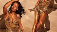 Rihanna kendi markası için poz verdi