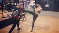Kadın'ın Bahar'ı Özge Özpirinçci kickboksa başladı, hocasını böyle dövdü
