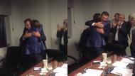 YSK zaferini ilan ettiği an İmamoğlu'nun karargahında yaşananlar kamerada