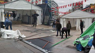 Ankara'da tanzim çadırları toplatılıyor