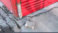 Esenyurt'ta yol çöktü apartmanda çatlaklar oluştu