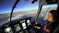 Emniyetin ilk kadın helikopter pilotu olarak tarihe geçti