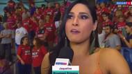 Seksi voleybolcu Jaqueline Carvalho canlı yayın sırasında bayıldı