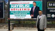 Seçimi kaybeden adaydan billboard ile teşekkür: Halk böyle takdir etti