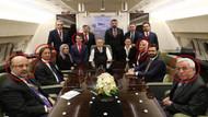 Erdoğan'ın Rusya uçağının dikkat çeken yolcuları