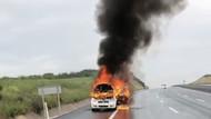 Arnavutköy'de cani adam, arabayla birlikte kadını diri diri yaktı!
